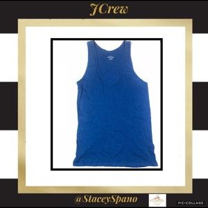 JCrew Royal Blue Vintage Tee Tank Top - Small